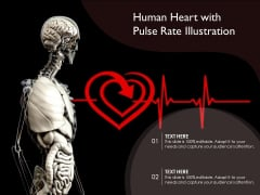 Human Heart With Pulse Rate Illustration Ppt PowerPoint Presentation Infographics PDF