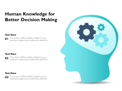 Human Knowledge For Better Decision Making Ppt PowerPoint Presentation File Slides PDF