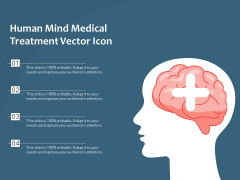 Human Mind Medical Treatment Vector Icon Ppt PowerPoint Presentation File Slide Download PDF