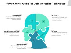 Human Mind Puzzle For Data Collection Techniques Ppt PowerPoint Presentation File Background Designs PDF