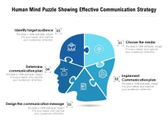 Human Mind Puzzle Showing Effective Communication Strategy Ppt PowerPoint Presentation Gallery Design Templates PDF