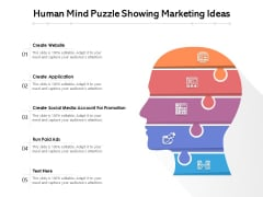 Human Mind Puzzle Showing Marketing Ideas Ppt PowerPoint Presentation File Graphics Tutorials PDF