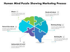 Human Mind Puzzle Showing Marketing Process Ppt PowerPoint Presentation File Graphics Pictures PDF