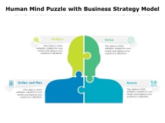 Human Mind Puzzle With Business Strategy Model Ppt PowerPoint Presentation File Infographic Template PDF