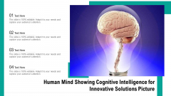 Human Mind Showing Cognitive Intelligence For Innovative Solutions Picture Ppt PowerPoint Presentation File Designs Download PDF