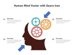 Human Mind Vector With Gears Icon Ppt PowerPoint Presentation Ideas Maker PDF
