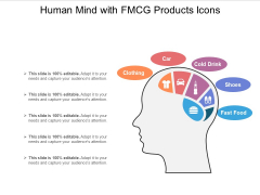 Human Mind With FMCG Products Icons Ppt PowerPoint Presentation File Images PDF