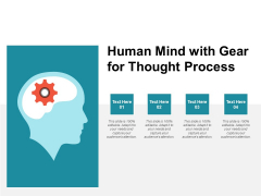 Human Mind With Gear For Thought Process Ppt PowerPoint Presentation Infographics Themes