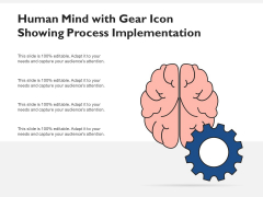 Human Mind With Gear Icon Showing Process Implementation Ppt PowerPoint Presentation Pictures Visuals PDF