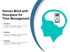 Human Mind With Hourglass For Time Management Ppt PowerPoint Presentation Professional Samples