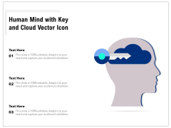 Human Mind With Key And Cloud Vector Icon Ppt PowerPoint Presentation Gallery Introduction PDF