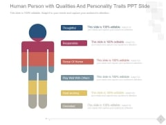 Human Person With Qualities And Personality Traits Ppt PowerPoint Presentation Tips