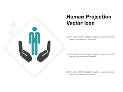Human Projection Vector Icon Ppt PowerPoint Presentation Infographics Display