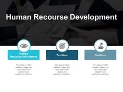 Human Recourse Development Ppt PowerPoint Presentation Styles Slides Cpb
