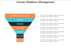 Human Relations Management Ppt Powerpoint Presentation Summary Icon Cpb