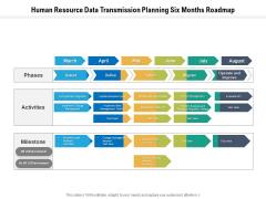 Human Resource Data Transmission Planning Six Months Roadmap Template