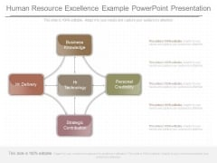 Human Resource Excellence Example Powerpoint Presentation