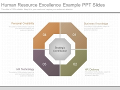 Human Resource Excellence Example Ppt Slides