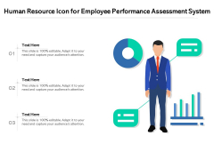 Human Resource Icon For Employee Performance Assessment System Ppt PowerPoint Presentation Ideas Example Introduction PDF