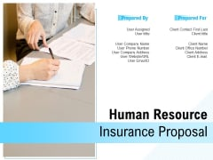 Human Resource Insurance Proposal Ppt PowerPoint Presentation Complete Deck With Slides