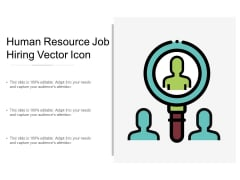 Human Resource Job Hiring Vector Icon Ppt Powerpoint Presentation Ideas Icon