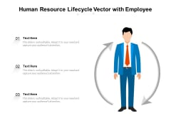 Human Resource Lifecycle Vector With Employee Ppt PowerPoint Presentation Icon Diagrams PDF