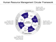 Human Resource Management Circular Framework Ppt PowerPoint Presentation Summary Objects
