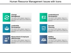 Human Resource Management Issues With Icons Ppt PowerPoint Presentation Slides Shapes