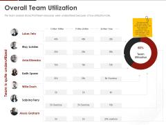 Human Resource Management Overall Team Utilization Ppt Ideas PDF