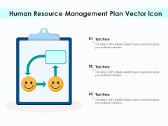 Human Resource Management Plan Vector Icon Ppt PowerPoint Presentation Gallery Graphics Tutorials PDF