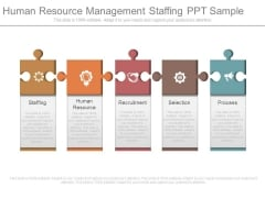 Human Resource Management Staffing Ppt Sample