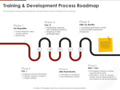 Human Resource Management Training And Development Process Roadmap Ppt Styles Graphics Download PDF