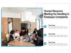 Human Resource Meeting For Handling In Employee Complaints Ppt PowerPoint Presentation File Background PDF