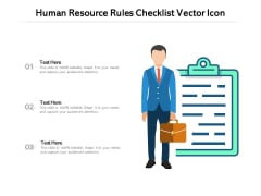 Human Resource Rules Checklist Vector Icon Ppt PowerPoint Presentation Infographics Slideshow PDF