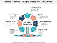 Human Resource Strategy Reporting And Management Ppt PowerPoint Presentation Layouts Infographic Template