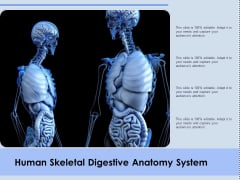 Human Skeletal Digestive Anatomy System Ppt PowerPoint Presentation Slides Ideas PDF