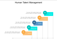 Human Talent Management Ppt PowerPoint Presentation Layouts Guidelines Cpb