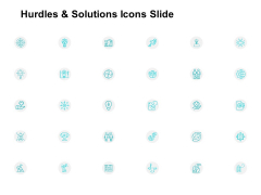 Hurdles And Solutions Icons Slide Ppt PowerPoint Presentation Slides Files