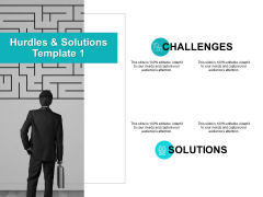 Hurdles And Solutions Template 1 Ppt PowerPoint Presentation File Show