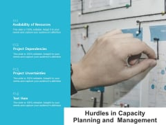 Hurdles In Capacity Planning And Management Ppt Powerpoint Presentation Ideas Information