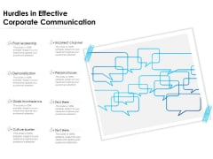 Hurdles In Effective Corporate Communication Ppt PowerPoint Presentation Infographics Ideas PDF