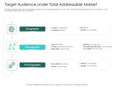 Hybrid Investment Pitch Deck Target Audience Under Total Addressable Market Ppt Slides Graphic Tips PDF