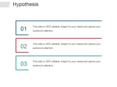Hypothesis Ppt PowerPoint Presentation Ideas Smartart