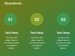 Hypothesis Ppt Powerpoint Presentation Model Background