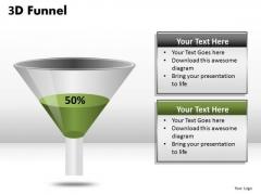 Half Full Funnel Diagram PowerPoint Templates