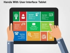 Hands With User Interface Tablet PowerPoint Templates