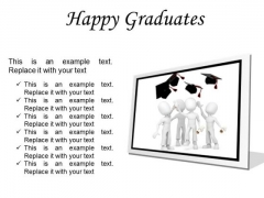Happy Graduates Success PowerPoint Presentation Slides F
