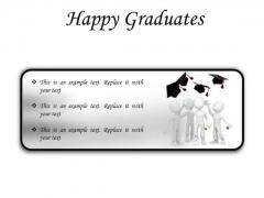 Happy Graduates Success PowerPoint Presentation Slides R