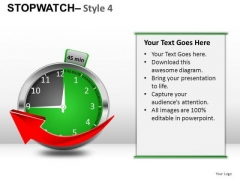 Health Stopwatch 4 PowerPoint Slides And Ppt Diagram Templates