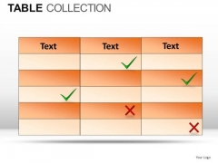 Health Table Collection PowerPoint Slides And Ppt Diagram Templates